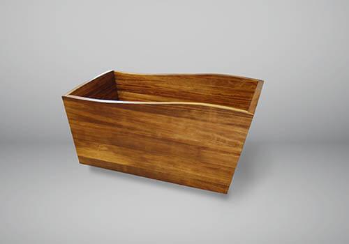 A beautiful wooden bathtub