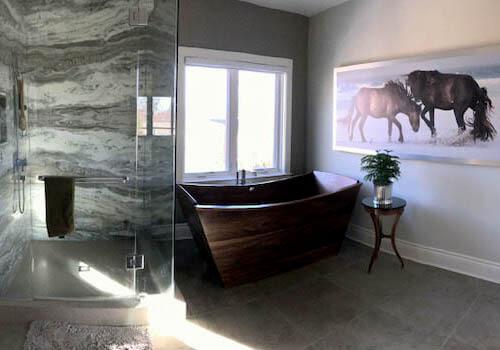 Walnut European Wooden Bathtub